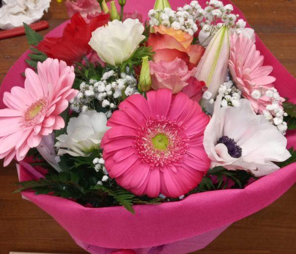 Bouquet Gerbere tulipani e rose